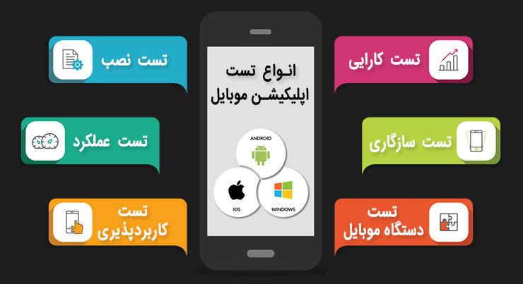انواع تست اپلیکیشن موبایل